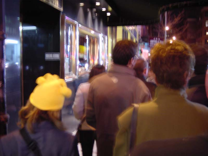 In line at the Blue Note