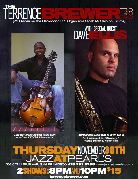 Terrence Brewer Trio w/ Dave Ellis