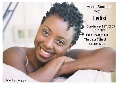 Go learn how to sing with Ledisi!!!