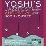 Yoshi's JazzFest - FREE in Jack London Square this Sunday!!!