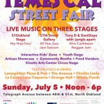 Temescal Street Fair Oakland - Sunday, July 5 - 12 - 6pm